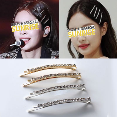BLACKPINK JENNIE st. BLING CUBIC HAIR PIN SET(4ea)