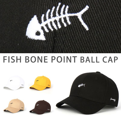 [UNISEX] FISH BONE POINT BALL CAP(5color)