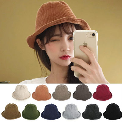 [UNISEX] NATURAL KNIT BUCKET HAT(11color)