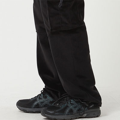 [UNISEX] VELVET POCKET STRING CARGO PANTS(2color)