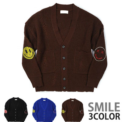 VINTAGE DAMAGE SMILE CARDIGAN