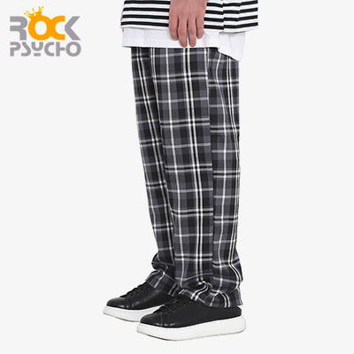 【ROCK PSYCHO】FLANNEL PANTS -grey