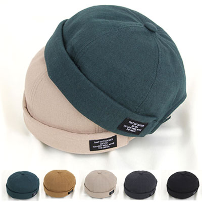 [UNISEX] TAG PATCH LINEN WATCH HAT(5color)