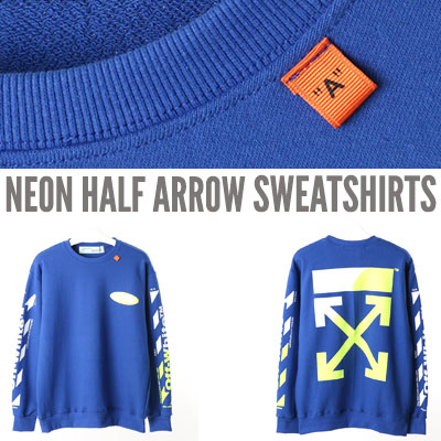[UNISEX] NEON HALF ARROW SWEATSHIRTS