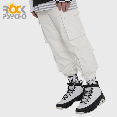 【ROCK PSYCHO】PU CARGO PANTS -white