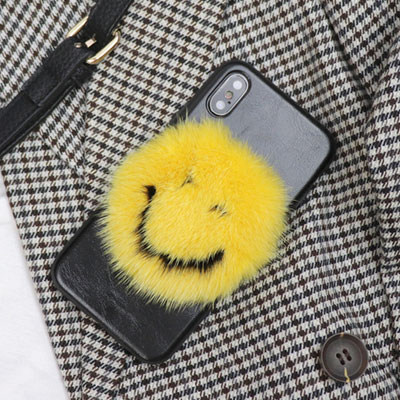 HAPPY SMILE FUR PHONE CASE