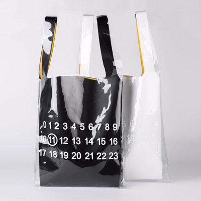 [UNISEX] NUMBERING PRINT PLASTIC BAG (2color)