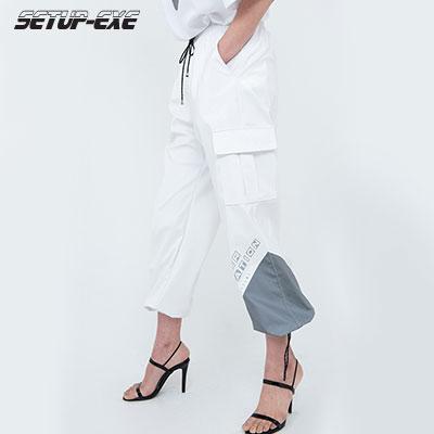 【SETUP-EXE】Reflective pointed Pants - white