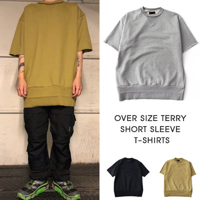 [UNISEX] OVERSIZE TERRY SHORT SLEEVE TSHIRTS (3color)