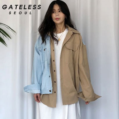 【GATELESS】FAKE DOUBLE LAYERED JACKET (2size)