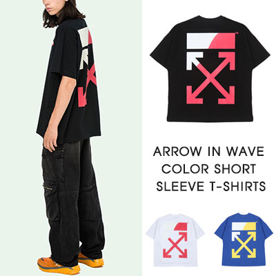 [UNISEX]ARROW IN WAVE COLOR SHORT SLEEVE T-SHIRTS(3COLOR)
