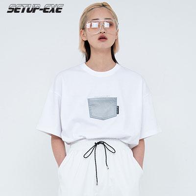 【SETUP-EXE】Reflective pocket T-shirt - White