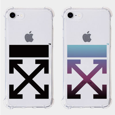 ARROW CLEAR PHONE CASE(2color)