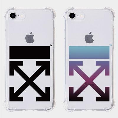 ARROW CLEAR PHONE CASE(2color)