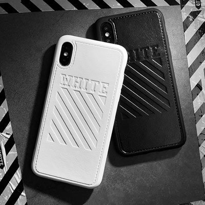 EMBOSSED WHITE LOGO PHONE CASE(2color)