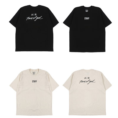 [UNISEX]FRONT STAFF PRINT POINT SHORT SLEEVE T-SHIRTS(2color)