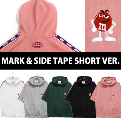 [In Stock]m&m CHOCO MARK & SIDE TAPE SHORT SLEEVE VER.