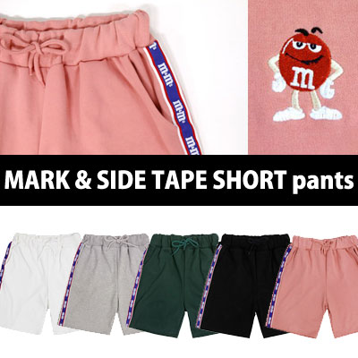 [In Stock]m&m CHOCO MARK & SIDE TAPE SHORT PANTS VER.
