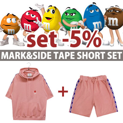 [In Stock]set-5%)m&m CHOCO MARK & SIDE TAPE SHORT VER.
