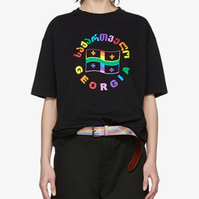[UNISEX]RAINBOW LOGO SHORT SLEEVE T-SHIRTS(2color)