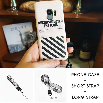[Galaxy only]DIAGONAL LINE POINT PHON CASE+STRAP