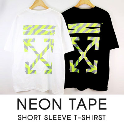 [UNISEX]NEON TAPE SHORT SLEEVE T-SHIRS(2color)