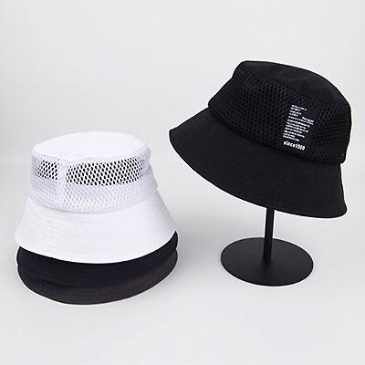 [UNISEX]MASH&LETTERING LABEL PATCH BUCKET HAT(4color)