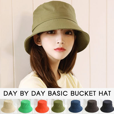 [UNISEX]DAY BY DAY BASIC BUCKET HAT(7color)