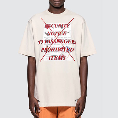[UNISEX]RED LETTERING POINT SHORT SLEEVE T-SHIRTS-white beige