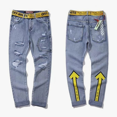 YELLOW BELT POINT ARROW DENIM PANTS(29~33inch/3size)
