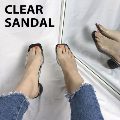 [22.5 ~ 25.0cm] CLEAR SANDAL (3color)