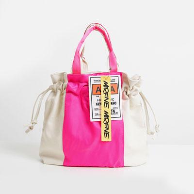 [UNISEX]CENTER COLOR POINT PATCH BAG(3color)
