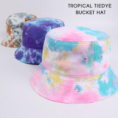 [UNISEX]TROPICAL TIEDYE BUCKET HAT(3color)