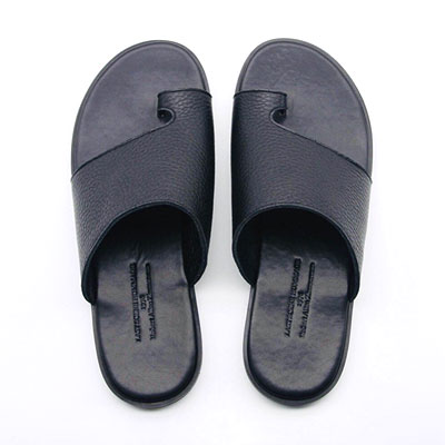 [25.0 ~ 28.0cm] SHRINK LETHER SLIPPER-black