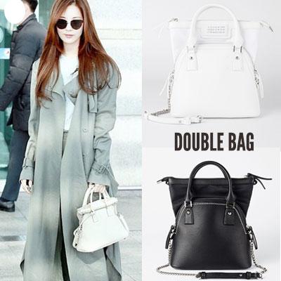 [M-size] seohyun st.DOUBLE BAG st.TOTE BAG & SHOULDER BAG (2color)