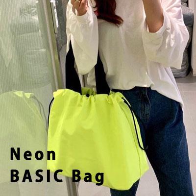 NEON BASIC BAG SHOULDER BAG/TOTE BAG/SHOPPER BAG (4color)