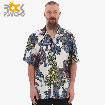 【ROCK PSYCHO】[C-type]MEN'S SUMMER SHIRTS(2size)