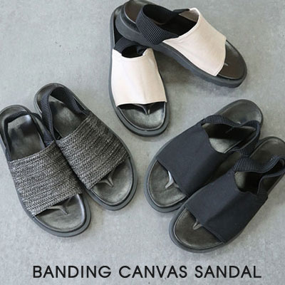 [25.0 ~ 28.0 cm] BANDING CANVAS SANDAL (3color)