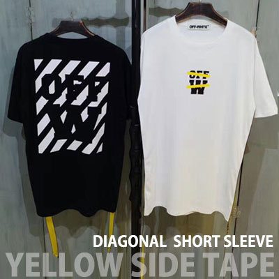 YELLOW SIDE TAPE SHORT SLEEVE T-SHIRTS