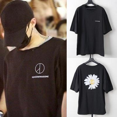 [UNISEX]G-DRAGON st.FLOWER FLASH SHORT SLEEVE T-SHIRTS-BLACK