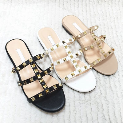 [23.0 ~ 25.0cm] STUD POINT SLIPPER (3color)