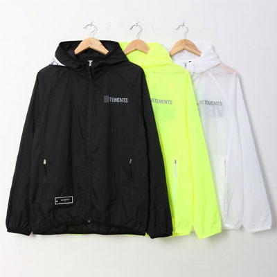 [UNISEX]PATCH & SMALL LOGO WINDBREAKER(3color/4size)