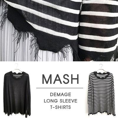 [UNISEX]MASH DEMAGE LONG SLEEVE KNIT(2type)