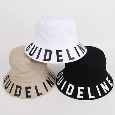 [UNISEX]GUIDE LINE LETTERING BUCKETHAT(5color)
