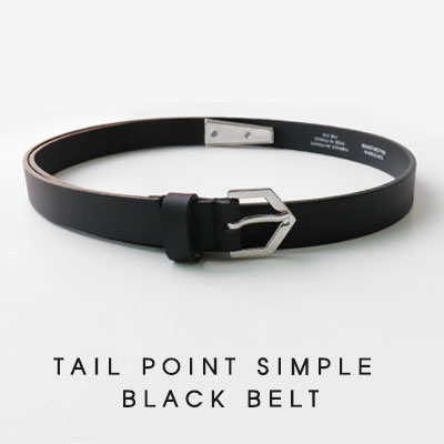 [UNISEX]TAIL POINT SIMPLE BLACK BELT(2size)