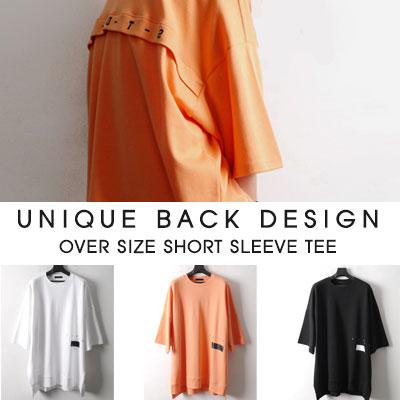 [UNISEX]UNIQUE BACK DESIGN OVER SIZE SHORT SLEEVE T-SHIRS(3color)