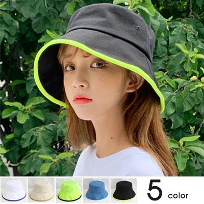 [UNISEX]COLOR LINE  POINT BUCKET HAT(5color)