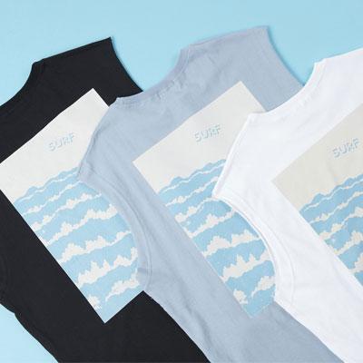[UNISEX]SURF WAVE PRINT TANK TOP(3color)