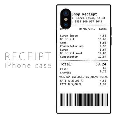 RECEIPT iPhone case
