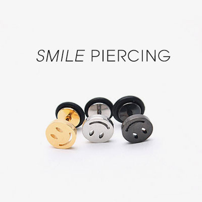 [Surgical stainless steel]SMILE BABEL PIERCING(3color)